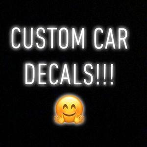 Custom car decals!!